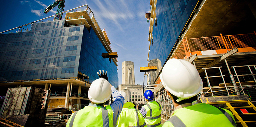 Construction engineering at site