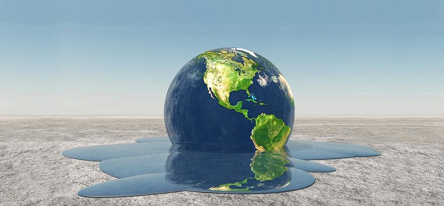 Earth with water